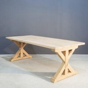 Landelijke eettafel gemaakt van massief eikenhout Kaal | Concept Table
