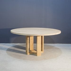 Massief eiken ronde eettafel Kaal | Concept Table