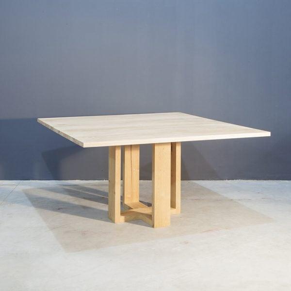 Massief eiken vierkante eettafel Kaal | Concept Table