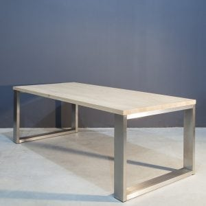Moderne eettafel met RVS onderstel Kaal | Concept Table