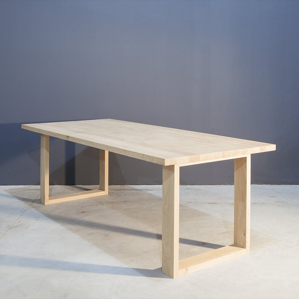 Moderne massief eikenhouten eettafel concept table - Eettafel moderne ...