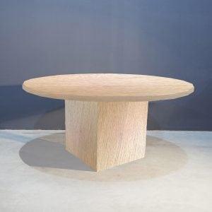 Robuust ronde eettafel met kolompoot Kaal | Concept Table