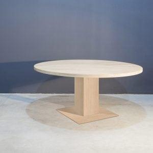 Ronde eikenhouten eettafel Kaal   Concept Table