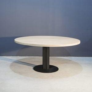 Ronde Eettafel Met Kolompoot.Robuust Ronde Eettafel Met Kolompoot Concept Table