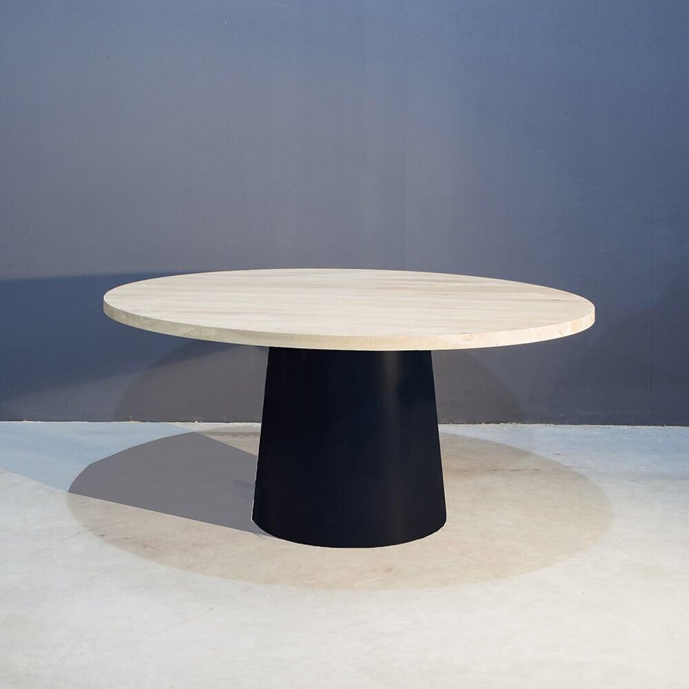 Ronde tafel met uniek conisch onderstel concept table for Tafel samenstellen