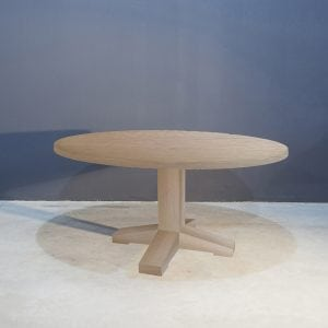 Stoere massief eiken ronde tafel Kaal | Concept Table