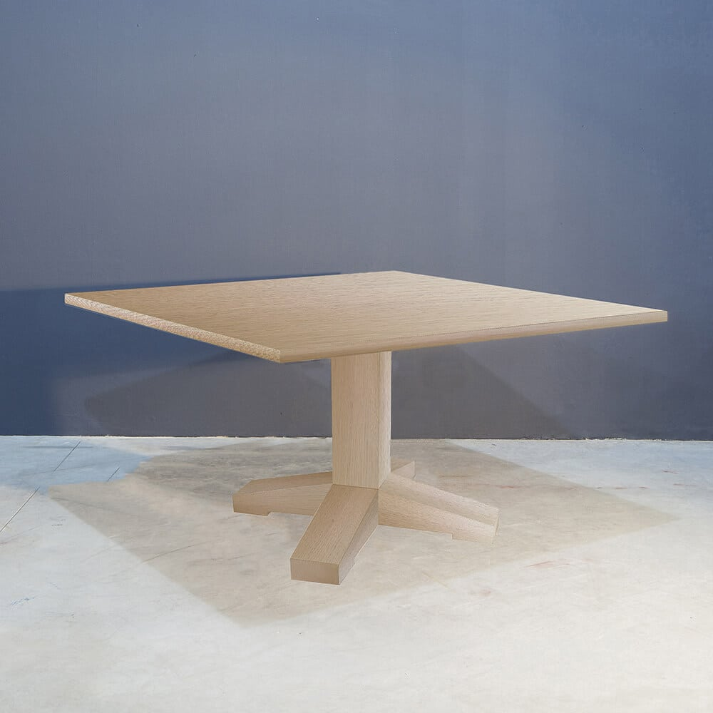 Stoere massief eiken vierkante tafel Kaal | Concept Table