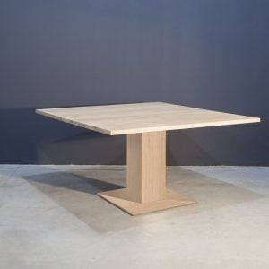 Vierkante eikenhouten eettafel Kaal | Concept Table